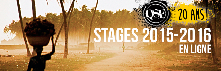 Stages QSF 2015-2016 en ligne (French only)
