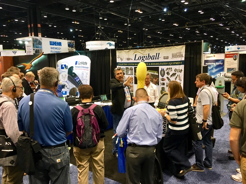 Logiball at WEFTEC.