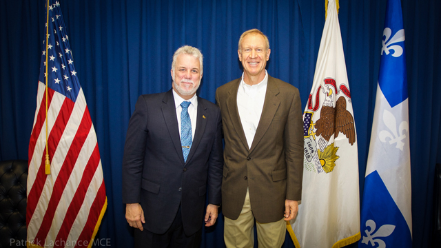 Premier Philippe Couillard and Governor of Illinois, Bruce Rauner