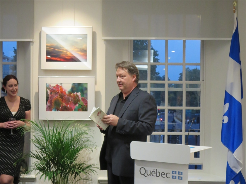 Denis Thériault at the Québec Government Office in London