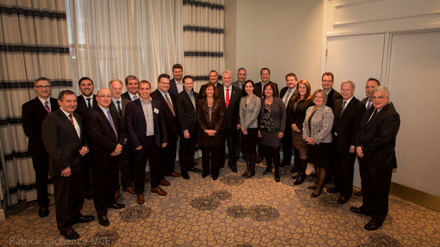 Premier Couillard with the economic delegation from Québec